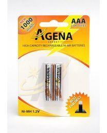 Agena Energy AAA 1000mAh Ni-MH punjiva baterija idealne za uređaje koji se svakodnevno koriste i koji zahtevaju dugotrajnost.