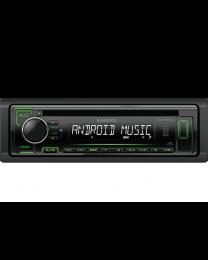 Kenwood KDC-120UG Auto radio snage 4x50W sa prednjom pločom koja se skida, USB konektorom, kompatibilan sa iOS i Android uredajima, LCD displejom itd.
