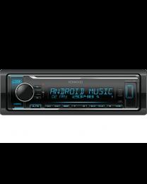 Kenwood KMM-124Y auto radio sa ugrađenim Bluetooth-om i USB konektorom, kompatibilan sa iOS i Android uređajima, LCD displejom itd.