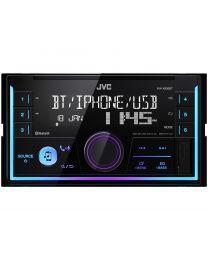 JVC KW-X830BT Auto radio dvodinsk stereo uređaj koji omogućava punu kontrolu Android telefonom sa kojim možete osmisliti osvetljenje prednjeg panela.