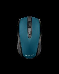 Canyon CNS-CMSW08G Bežični miš sa mogućnošću povezivanje putem USB ili Bluetooth veze i opcijom promene rezolucije 800/1200/1600 DPI.