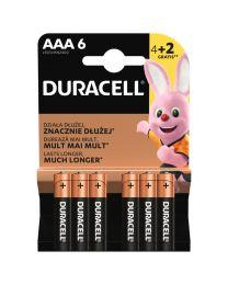 Duracell LR03 AAA 1,5V Alkalne baterije zadovoljavaju najviše standarde kvalitete i nude izvrsnu pouzdanost. U pakovanju 4+2 komada gratis.