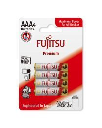 Fujitsu Premium LR03 (4B) Alkalne baterije za maksimalnu snagu, uključujući specijalnu zaštitu od curenja. Za  uređaje koji zahtevaju visok nivo energije.