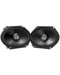 """JVC CS-DR6820 Auto zvučnici dimenzija 15 x 20 cm (6"""" x 8"""")  sa maksimalnom ulaznom snagom od  300 W i nominalnom ulaznom snagom od 45 W."""