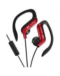JVC HA-EBR25-RE Slušalice sa ugrađenim mikrofonom i daljinskim upravljačem,  otporne na prskanje, idealne za treninge, trčanje i slično.