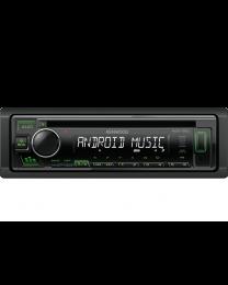 Kenwood KDC-130UG Auto radio snage 4x50W sa prednjom pločom koja se skida, USB konektorom, kompatibilan sa iOS i Android uredajima, LCD displejom itd.