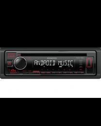 Kenwood KDC-130UR Auto radio snage 4x50W sa prednjom pločom koja se skida, USB konektorom, kompatibilan sa iOS i Android uredajima, LCD displejom itd.