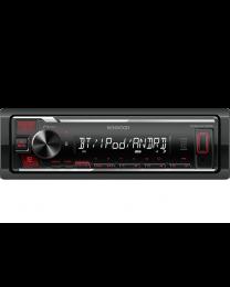 Kenwood KMM-BT205 Auto radio sa ugrađenim Bluetooth-om i USB konektorom, kompatibilan sa iOS i Android uređajima, LCD displejom itd.