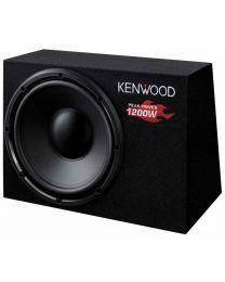 Kenwood KSC-W1200B Subwoofer sa kućištem kompaktne veličine, dimenzije 30 cm, maksimalne ulazne snage 1200 W, dok je realna muzička snaga 300 W.