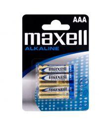 Maxell LR03 AAA 1,5V Alkalne baterije zadovoljavaju najviše standarde kvalitete i nude izvrsnu pouzdanost. U pakovanju 4 komada.