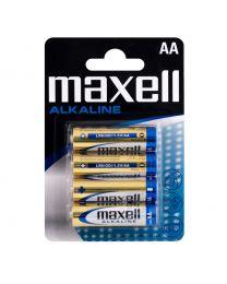 Maxell LR06 AA 1,5V Alkalne baterije zadovoljavaju najviše standarde kvalitete i nude izvrsnu pouzdanost. U pakovanju 4 komada.