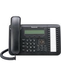 Panasonic KX-DT543-B Sistemski telefon sa trorednim LCD ekranom, 24 fleksibilnih funkcijskih tastera, One-touch i Full Duplex Speakerphone funkcijom.