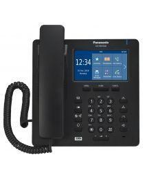 Panasonic KX-HDV340NEB SIP telefon sa 4 SIP naloga, 4.3 inčnim kolor TFT LCD displejem sa touch panelom, 24 funkcionala tastera i  2,500 brojava u imeniku.