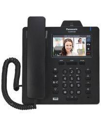 """Panasonic KX-HDV430NEB SIP telefon sa 16 SIP naloga, ugrađenom kameraom koja pruža mogućnost video konferencije i 4.3"""" ekranom u boji osetljiv na dodir."""