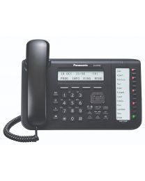 Panasonic KX-NT553X-B Sistemski telefon sa 3-rednim LCD ekranom sa pozadinskim osvetljenjem, fleksibilnim CO tasterima 12x2 (samostalno obeležavanje).