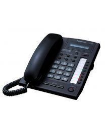 Panasonic KX-T7665-B Sistemski telefon sa 1 rednim LCD ekranom, 8 programibilnih tastera sa dvobojnim LED, 10 funkcijskih tastera i Spikerfonom.