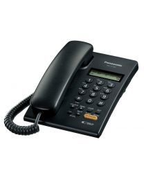 Panasonic KX-T7705X-B Žični telefon sa  LCD ekranom u dva reda (16 cifara), caller ID, Redial, spikerfonom i mogućnošću  zidne montaže.