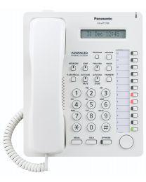 Panasonic KX-T7730 Sistemski telefon sa 12 programabilnih tastera, jednorednim LCD displejom sa 16 karaktera, Spikerfon, Auto answer i Mute tasterima...