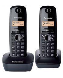 Panasonic KX-TG1612FXH Bežični telefon Set od 2 slušalice, 1 baze i 1 punjača sa osvetljenim displejem, identifikacijom poziva i površinom otpornom na otiske prstiju.