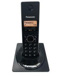 """Panasonic KX-TG1711FXB Bežični telefon sa narandžasto osvetljenim alfanumeričkim displejem i plastikom sa specijalnim premazom """"bez otisaka prstiju""""."""