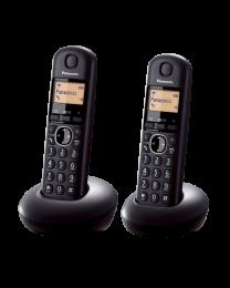 Panasonic KX-TGB212FXB Bežični telefon TwinPack crni sa ekranom od 1.4 inča i mogućnošću javljanja preko bilo kog tastera