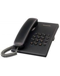 Panasonic KX-TS500FXB Žični telefon sa mogućnošću ponovnog biranje poslednjeg biranog broja, 3 jačine zvuka, montiranja na zid itd.