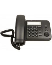 Panasonic KX-TS520FXB Žični telefon sa opcijom ponovnog biranje poslednjeg broja, Flash tasterom za pristup funkcijama centrala, montiranja na zid itd.