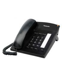 Panasonic KX-TS820MXB Žični telefon sa 10 tastera za brzo biranje, Redial, Flash, 4 nivoa jačine slušalice i mogućnošču zidne montaže.