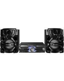 Panasonic SC-AKX710E-K Mini linija izlazne snage 2000W sa Bluetooth-im, USB, CD i FM tjunerom uz priljučak za 2 mikrofona za savršenu karaoke zabavu.