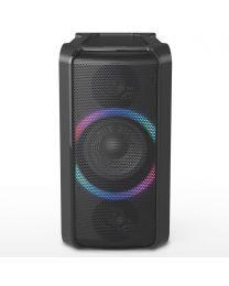 Panasonic SC-TMAX5EG-K Bluetooth zvučnik snage (RMS): 150 W pruža moćno dubok bas i odsečne ritmove i svaku lokaciju pretvora u plesni podijum.
