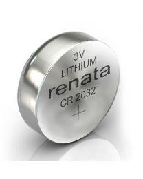 Renata CR2032 litijumska baterija napona od 3 V, koriste se za različite primene u sve većem broju prenosivih uređaja i nudi izvrsnu pouzdanost.