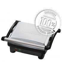 Sencor SBG 3050SS Električni roštilj sa 2 različite površine za pečenje, idealan za roštiljanje tokom cele godine u zatvorenom prostoru i u vrtu.