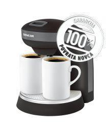Sencor SCE 2000BK Aparat za kafu koji vam pruža mogućnost pripremanje kafe ili čaja može da se koristi kao prenosivi aparat za kafu za kampovanje.