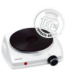 Sencor SCP 1503WH Električni rešo sa 1 ringlom prečnika 18,5 cm i termostatom za stalnu regulaciju temperature. Idealna za vikendice spavaone i slično.