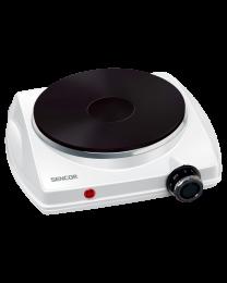 Sencor SCP 1503WH električni rešo sa 1 ringlom prečnika 18,5 cm i termostatom za stalnu regulaciju temperature.