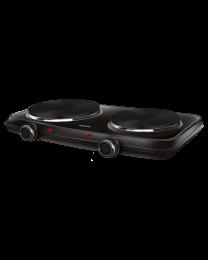Sencor SCP 2254BK Električni rešo sa 2 ringle precnika 18 cm i 15 cm i termostatom za stalnu regulaciju temperature.