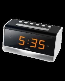 Sencor SDC 4400 W Alarm sa noćnim svetlom, žutim LED ekranom od 0,9 inča, funkcijom zatamnjivanja i za dva alarma uz mogućnost odlaganja alarma.