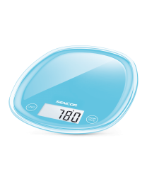Sencor SKS 32BL Kuhinjska vaga sa senzorima osetljivim na dodir velikim LCD ekranom i funkcijom za poništavanje težine posude u kojoj se meri.