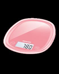 Sencor SKS 34RD Kuhinjska vaga sa senzorima osetljivim na dodir velikim LCD ekranom i funkcijom za poništavanje težine posude u kojoj se meri.