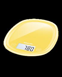 Sencor SKS 36YL Kuhinjska vaga sa senzorima osetljivim na dodir velikim LCD ekranom i funkcijom za poništavanje težine posude u kojoj se meri.