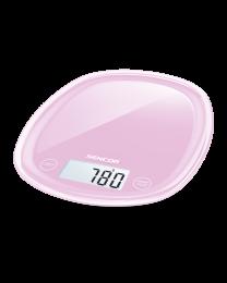 Sencor SKS 38RS Kuhinjska vaga sa senzorima osetljivim na dodir velikim LCD ekranom i funkcijom za poništavanje težine posude u kojoj se meri.