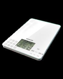 Sencor SKS 6000 Kuhinjska vaga sa senzorima osetljivim na dodir, prikazuje sadržaj kalorija, natrijuma, proteina, masnoća, ugljenih hidrata i vlakana...