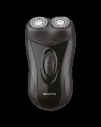 Sencor SMS 2001BK Električni brijač sa ugrađenom punjivom baterijom i dve fleksibilne i nezavisne glave za brijanje za glatku bradu.