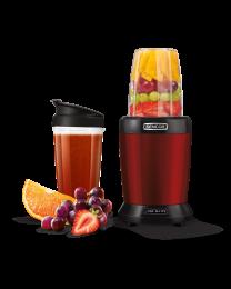 Sencor SNB 4301RD Nutri Blender snage 1000W izdvaja teško dostupne hranljive materije skrivene u semenkama, orašastim plodovima, usitnjava voće i povrće.