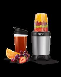 Sencor SNB 4302SS Nutri Blender izdvaja teško dostupne hranljive materije skrivene u semenkama, žitaricama, orašastim plodovima, usitnjava voće i povrće.