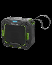 Sencor SSS 1050 Bluetooth portabl zvučnik zeleni, sa kojim možete uživati u svojoj omiljenoj muzici sa telefona ili tableta pomoću Bluetooth pristupa.