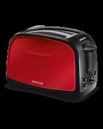 Sencor STS 2652RD toster sa elektronskim tajmerom, 2 proreza za istovremeno pečenje 2 tosta, pogodan za pečenje i tankih i debelih parčića