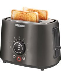 Sencor STS 6058BK Toster snage 1000W sa 2 proreza za istovremeno pečenje 2 tosta, prikladan za pripremu debelog i tankog pečenog hleba...
