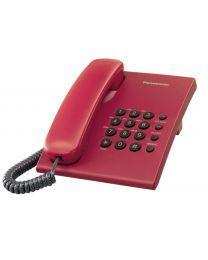 Panasonic KX-TS500FXR Žični telefon sa mogućnošću ponovnog biranje poslednjeg biranog broja, 3 jačine zvuka, montiranja na zid itd.