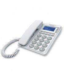 """Uniden AT6410W Žični Telefon sa spikerfonom i displejom u dva reda,velikim tasterima, identifikacijom poziva,dve direktne memorije i funkcijaom """"hands free"""""""